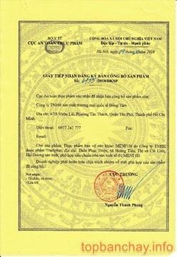 giấy chứng nhận menf 1h