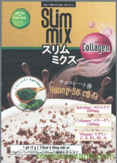 mặt trước sản phẩm slim mix