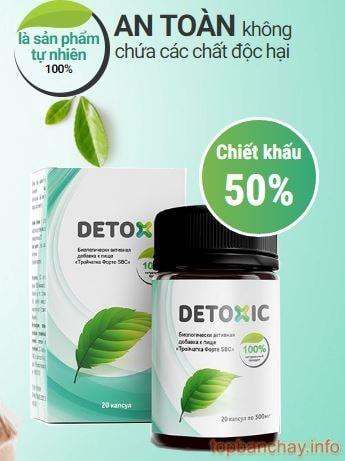 detoxic trị hôi miệng tẩy giun
