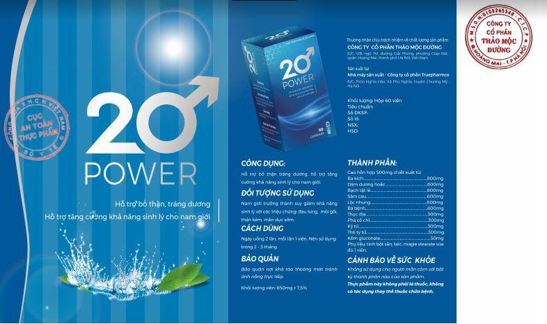 bao bì vỏ hộp 20 power