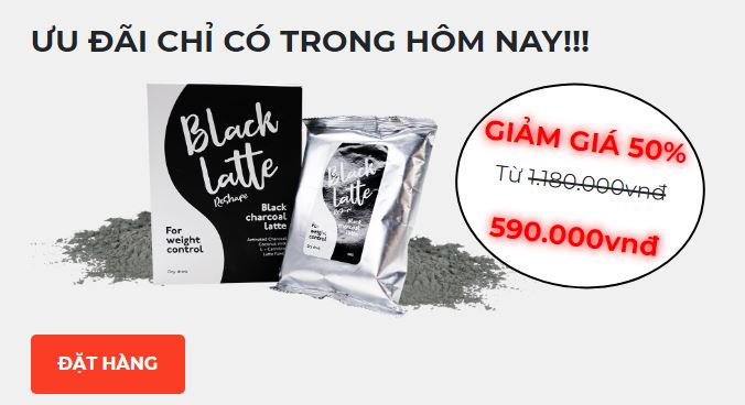 black latte giá bao nhiêu