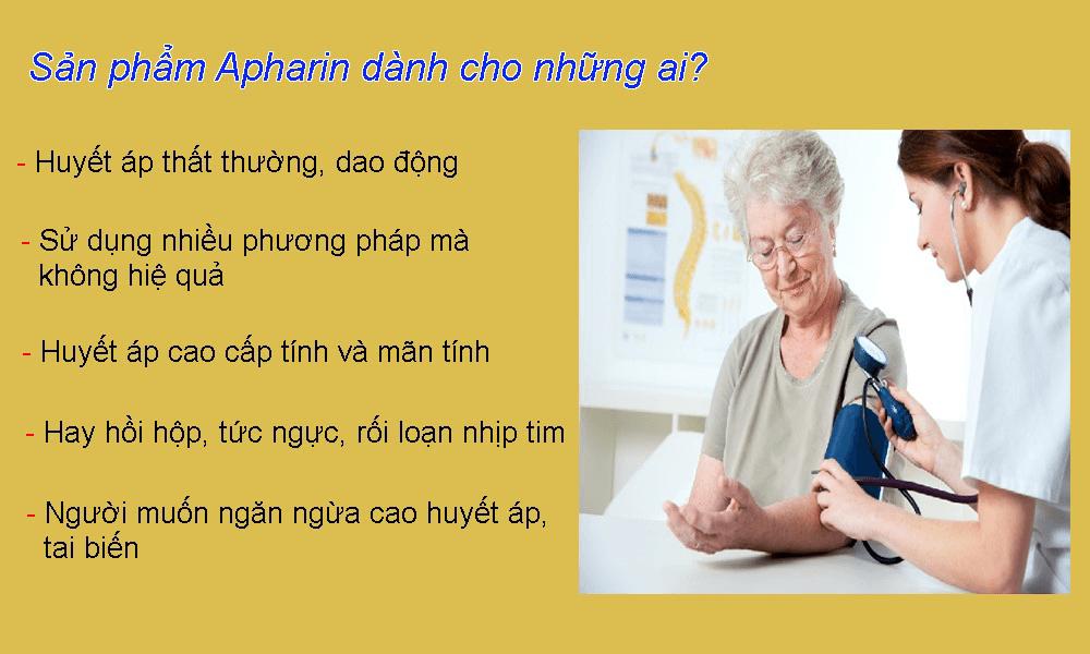 Đối tượng sử dụng apharin