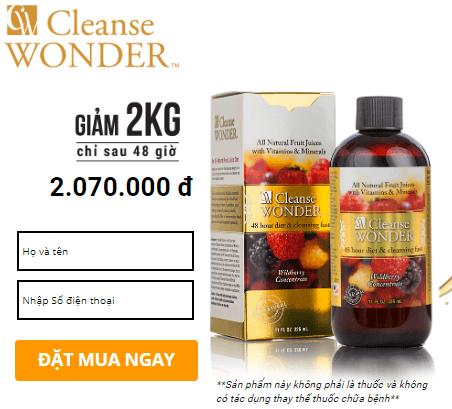 cleanse wonder giá bao nhiêu