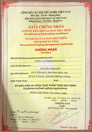 giấy chứng nhận cao diệp hạ châu