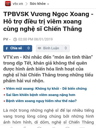 báo chí nói về vương ngọc xoang