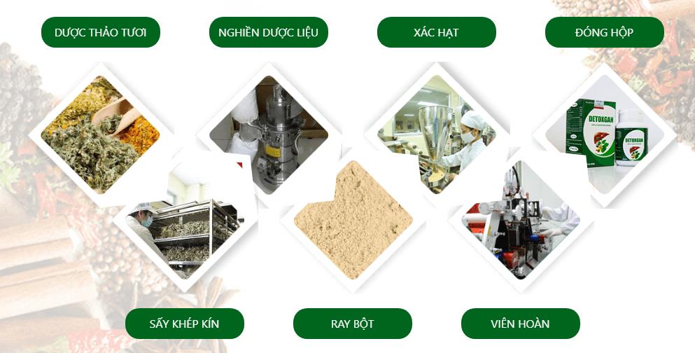 quy trình sản xuất detoxgan