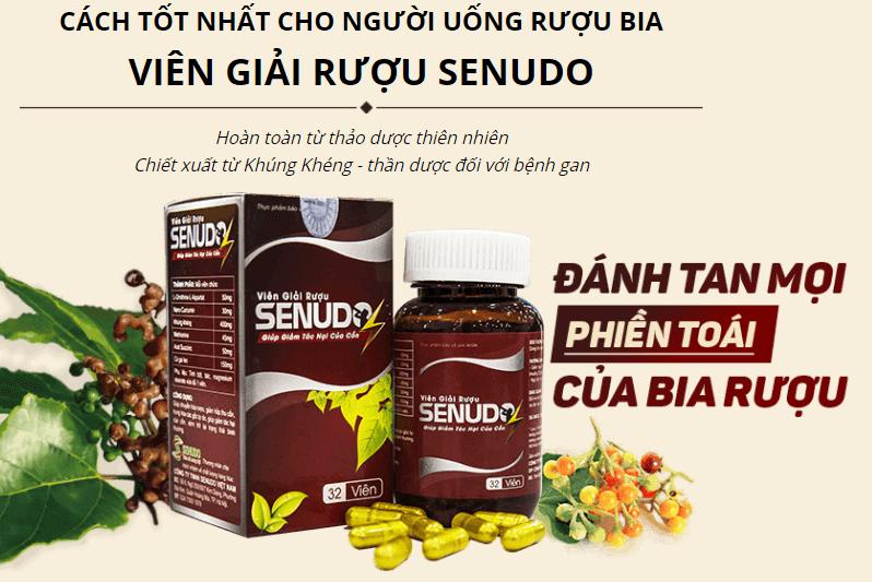 thành phần viên giải rượu senudo