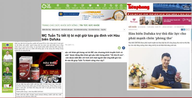 hàu biển dafuka được báo chí đưa tin