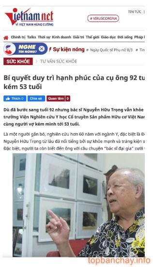 báo vietnamnet đưa tin về sản phẩm