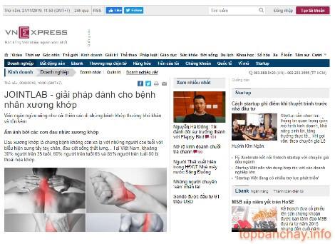 báo vn express cũng có bài nói về hiệu quả của jointlab
