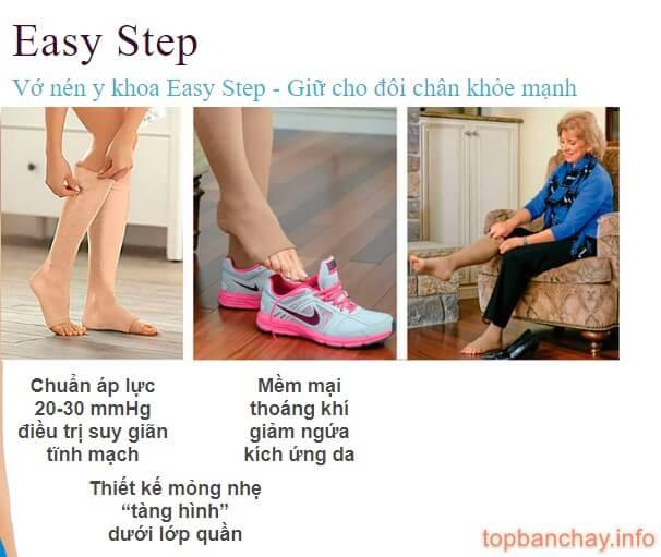 công dụng của vớ nén y khoa eassy step
