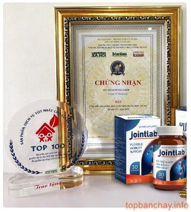 chứng nhận và giải thưởng mà jointlab đạt được