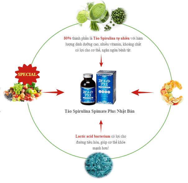 thành phần của tảo nhật spirulina