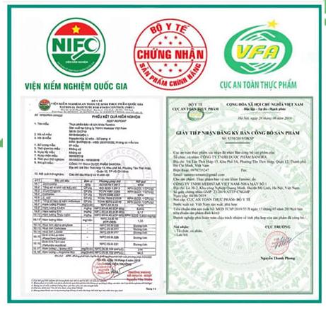 giấy kiểm nghiệm và giấy công bố sản phẩm