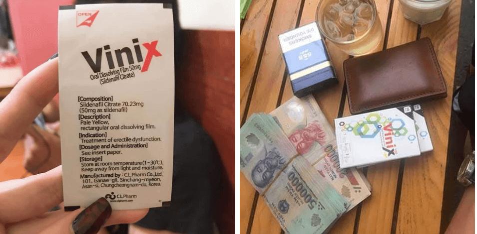 hóa đơn mua tem ngậm vinix