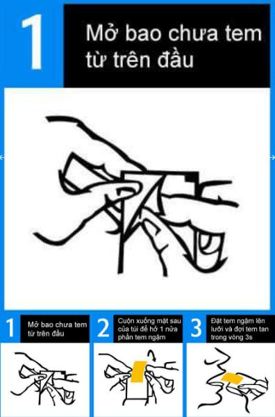 hướng dẫn cách dùng tem ngậm vinix