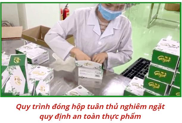 quy trình đóng gói sản phẩm goga