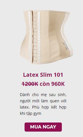 giá bán đai nịt bụng latex slim 101