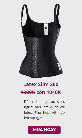 giá bán đai nịt bụng latex slim 200