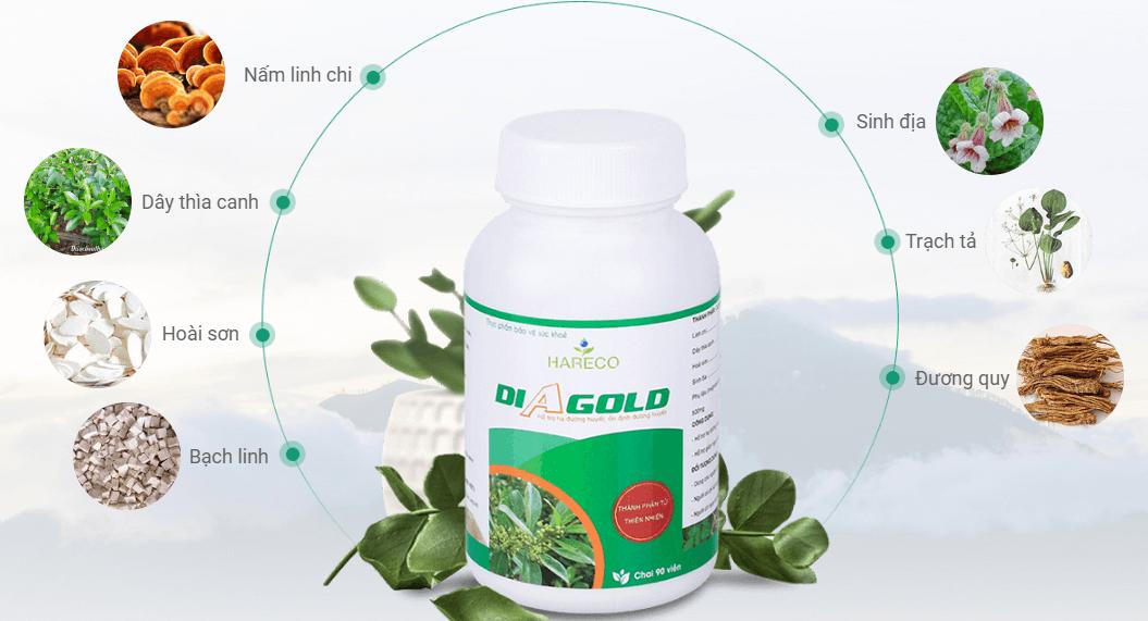 thành phần thuốc tiểu đường diagold