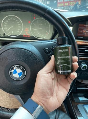 chai nano bạc khử mùi diệt khuẩn xe ô tô markel
