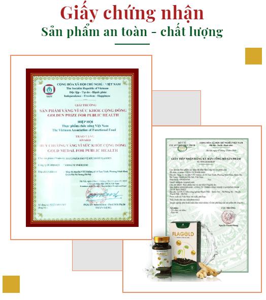 giấy chứng nhận mầm đậu nành flagold nano