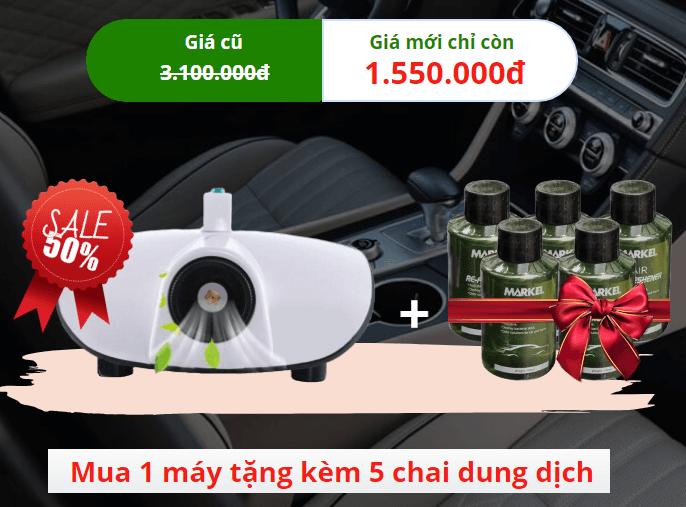 máy khử mùi xe ô tô giá bán bao nhiêu
