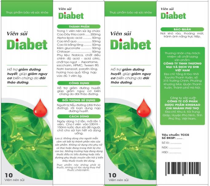phân biệt viên sủi diabet thật giả
