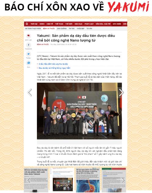 báo chí đưa tin về yakumi