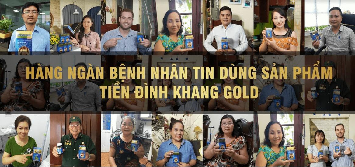 khách hàng đánh giá tiền đình khang gold