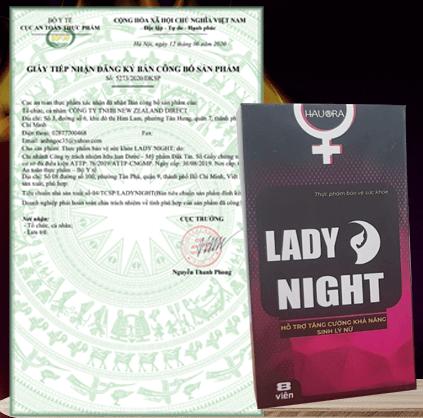 giấy công bố sản phẩm lady night