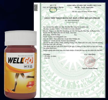 giấy công bố sản phẩm wellgo