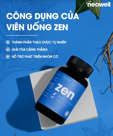 công dụng của viên uống zen