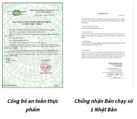 giấy công bố bifina