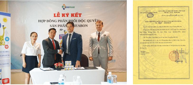 lễ ký kết phân phối độc quyền và giấy công bố lineabon