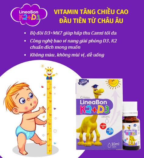 vitamin tăng chiều cao lineabon