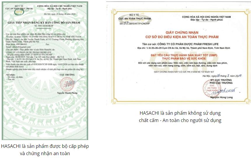 giấy chứng nhận hasachi