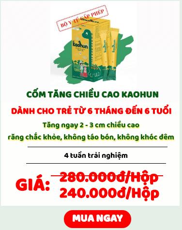 cốm tăng chiều cao Kaohun giá bao nhiêu
