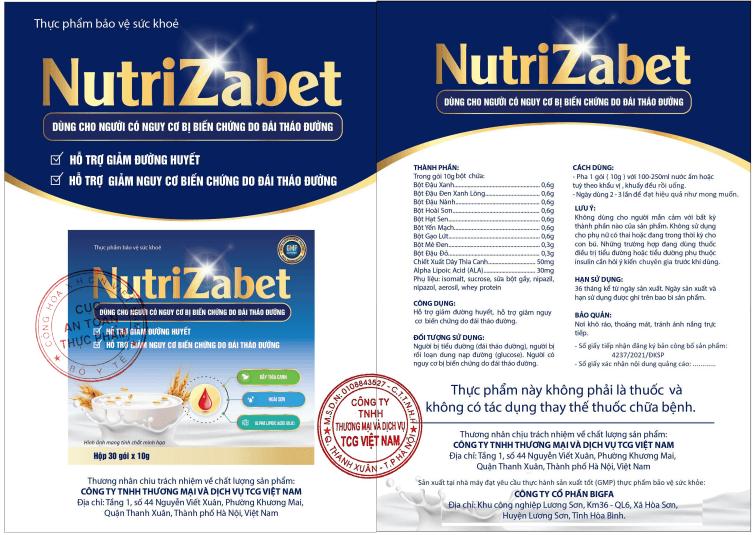 thông tin vỏ hộp nutrizabet