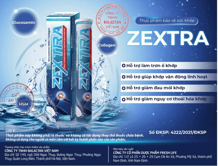 thông tin vỏ hộp sản phẩm zextra